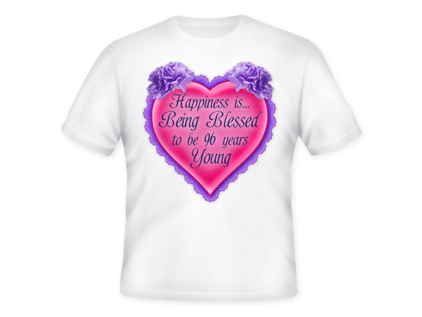 Age is a Blessing™ T-Shirt - 96 Years Young