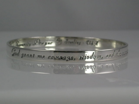 Eyes of the lord serenity prayer jewelry sterling silver bracelet mozeypictures Images